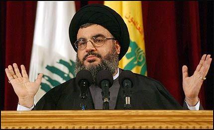 DØDSDOM: Hassan Nasrallah leder Hizbollah, som er representert i Libanons regjering. Israel truer med å drepe Nasrallah, som varsler flere angrep. Foto: EPA