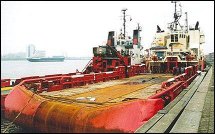 KIDNAPPET: To nordmenn er kidnappet fra det norske forsyningsskipet «Northern Comrade utenfor Nigeria. FOTO: PRIVAT