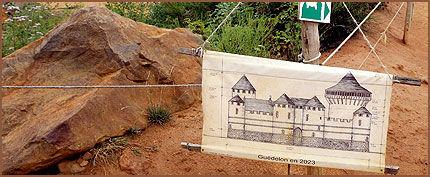 TEGNING: Slik skal slottet bli når det står ferdig om 17 år. Foto: AP / Remy de la Mauviniere