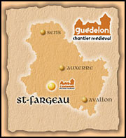 Kart fra slottets hjemmeside Foto: