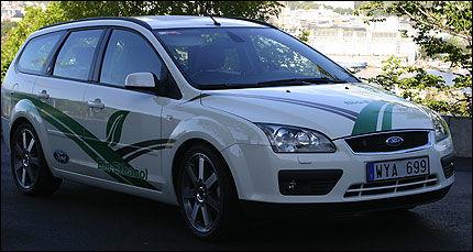 BILLIGERE: Ford Focus FlexiFuel får drøyt 13 000 kroner i avgiftslettelse. Foto: Hanne Hattrem
