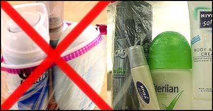 IKKE SLIK, MEN SLIK: Posen til høyre er riktig pakket, ikke den til venstre. Foto: Pål Unanue-Zahl