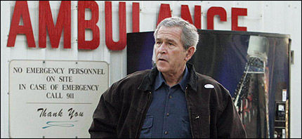 SKUFFET: George W. Bush er skuffet over valgresultatet. Her er han på vei ut av stemmelokalene i går. Foto: AP