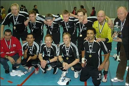 VINNERLAGET: Haugerud futsal ble skandinaviske mestere søndag. Foto: