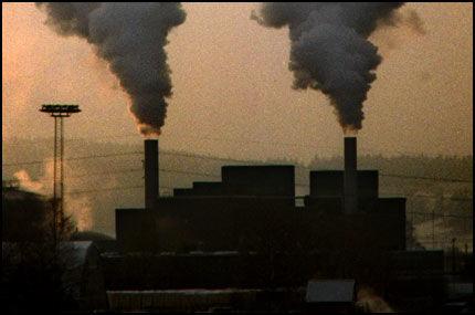 UTSLIPP: Enorme mengder CO2 slippes ut hvert år Foto: Ørjan Ellingvåg