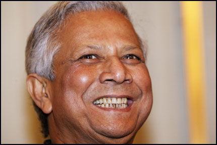 NOBELPRISVINNER: Muhammad Yunus. Foto: SCANPIX