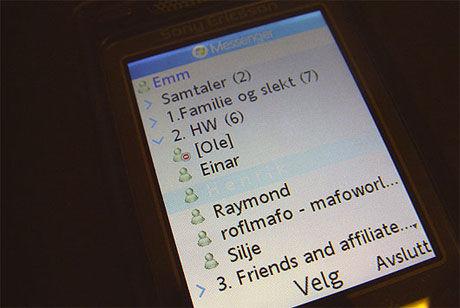 Telenors Live Messenger-program gir deg MSN på mobilen. Foto: Marius Valle