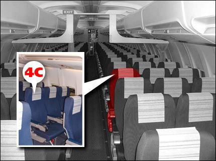 FLY FLATE: Kort vei til utgangen, albuerom i midtgangen og ofte ledig nabosete. Derfor er stol 4C nordmenns flyfavoritt. VG Nett grafikk: TOM BYERMOEN