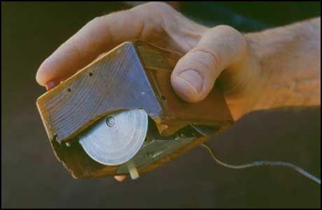 Den første datamusa utviklet av Douglas C. Engelbert. Foto: Wikipedia