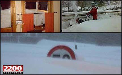 KAOS: Snøen laver ned i enorme mengder. Foto: VG Nett-lesernes bilder