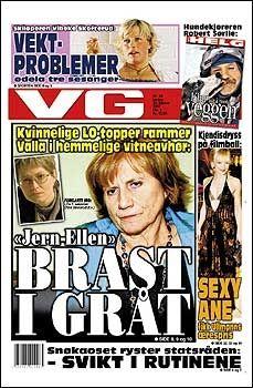 DAGENS VG: Les mer om LO-bråket i dagens papirutgave av VG. Foto: Faksimile