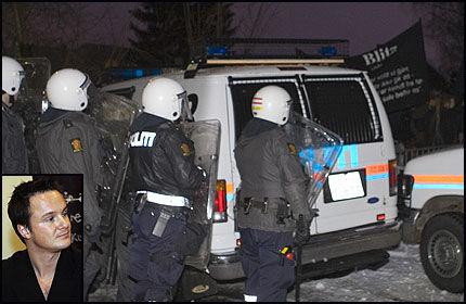 REAGERER: Høyre-politiker André Oktay Dahl mener blitzerne kan kastes ut av Blitzhuset hvis de sto bak demonstrasjonen mot den danske ambassaden. Foto: Scanpix