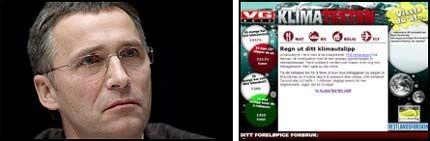 FOR PRIVAT?: Jens Stoltenberg vil ikke ta VG Netts nye klimatest. - Spørsmålene er for private, sier statssekretæren til VG Nett. Foto: Scanpix