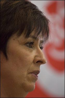 UTFORDRER: Mona Sahlin vil gjerne ha en innvandrerdebatt i Sverige. Foto: Scanpix