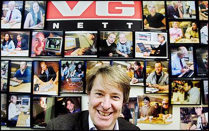 SÆRDELES FORNØYD: Ansvarlig redaktør og administrerende direktør Torry Pedersen i VG Multimedia leder i dag landets største nyhetskanal. Foto: Stian Lysberg Solum