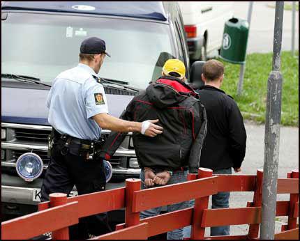 AKSJONERTE: Onsdag 9. mai pågrep politiet flere av brødrene i Oslo. En sitter også fengslet i Brasil. Foto: Trond Solberg Foto: