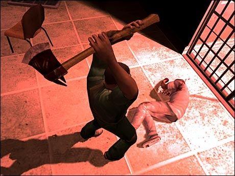 VOLDELIG: Det britiske filmtilsynet har bannlyst spillet Manhunt 2. Det samme skjedde på den andre siden av Atlanterhavet, men nå kommer allikevel spillet ut i USA. Foto: Rockstar