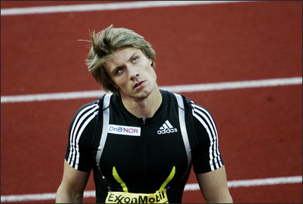 RYDDSKADET: Andreas Thorkildsen har en prolaps i ryggen. Her er han i full konsentrasjon under Bislett Games. Foto: Scanpix