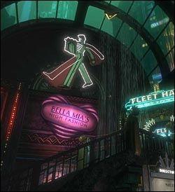 ART DECO: Den visuelle stilen og arkitekturen i Rapture er inspirert av Art Deco, noe som gjør «Bioshock» til et særdeles interessant spill også rent visuelt. Foto: 2K Games