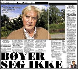 LES MER: I dagens VG kan du også lese om hvordan Oslo Høyre nekter å legge seg flate for partilederen. Faksimile: Dagens VG