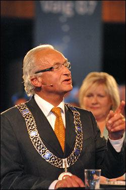 STØTTER KOLLEGA: Bergen-ordfører Hermann Friele (H) kaller Ditlev-Simonsens svigersønner for illojale angivere. Foto: SCANPIX