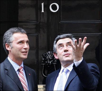 VIKTIGE SPØRSMÅL: Miljø- og energispørsmål var bare ett av temaene for møtet mellom de to statsministerne onsdag. Foto: Reuters