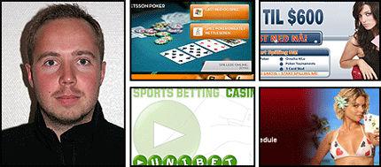 FRYKTER ANNETTE-EFFEKT: Øystein Bjørke Olsen synes det er trist å lese historiene om personer som vinner millioner i poker fordi han tror det lokker mange nye aktører inn på markedet. Foto: Montasje