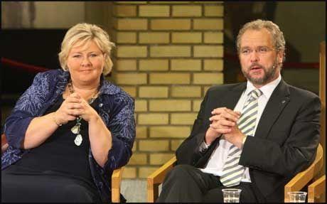KOM MED UTLTIMATUM: Valgnatten ga Lars Sponheim Høyre og Erna Solberg et ultimatum: Samarbeid med oss eller med Frp. Nå følger han opp. Foto: Scanpix