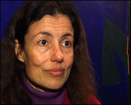 FORKASTELIG: Den bulgarske journalisten og filmskaperen Milena Kaneva sier hun er sjokkert Pensjonsfondets inversteringer i Burma. Foto: Inger Johanne Stenberg