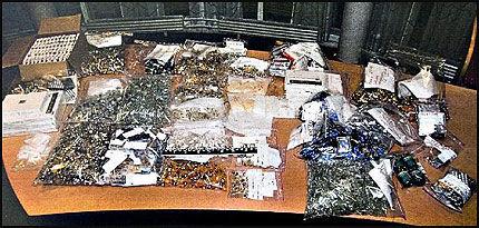 ENORMT BESLAG: Her er dopingmidlene som ble beslaglagt av politiet. Foto: Politiet