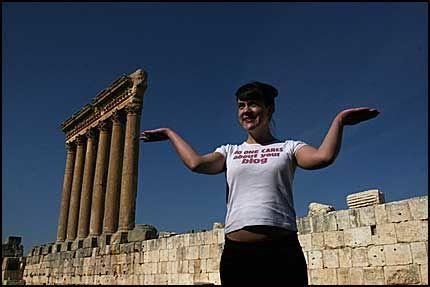 I Baalbek finner du ruinene etter romerrikets største templer. Et utrolig syn. Foto: Birte Bødtker