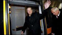 Al Gore tok flytoget til Oslo