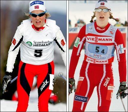 FORBILDER: Therese Johaug og Astrid Uhrenholdt Jacobsen. Foto: Scanpix og AFP