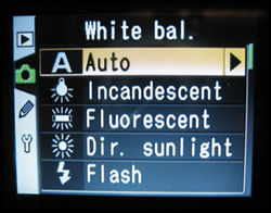 Hvitbalansen stilles inn via tekst- eller ikonbaserte menyvalg. Foto: PC World