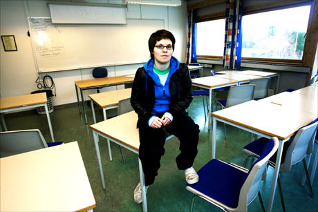BLE STRAFFET: Tidligere Steiner-elev Astrid Årseth (18) trives i dag på Storhamar videregående skole på Hamar.