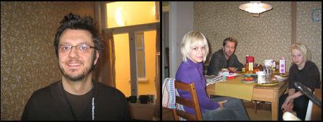 SAMMEN I DRAMMEN: Regissør Matias Armand Jordal og skuespillerne Evy Kasseth Røsten, Odin Waage og Fridtjov Såheim. Foto: Øystein David Johansen