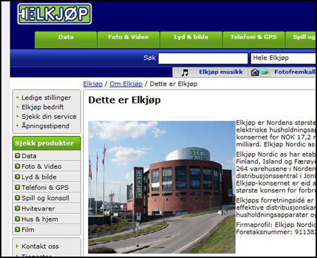 ÅPNET NY STORBUTIKK: Elkjøp åpnet i dag det største varehuset av alle Elkjøp-butikkene i Norge. Foto: Skjermbilde