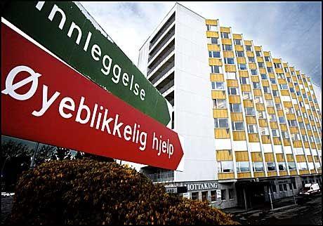 SPRØYTETABBE: Nå frykter man at barna har fått alvorlig smitte ved Ålesund sjukehus. Foto: Rolf Jarle Ødegaard/VG