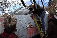 Jens Rino samler på flyskrotter!