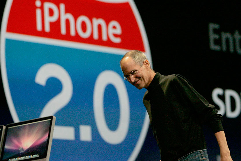 NY VERSJON: Apple-sjef Steve Jobs kunne lansere den nye versjonen av iPhone i dag. Foto: Reuters