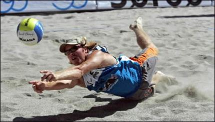 UTESTENGS: Sandvolleyballspiller Vegard Høidalen. Foto: Scanpix