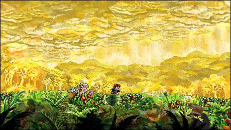 VAKKERT: «Braid» byr på slående vakre verdener og interessant spillbarhet. Som å bli jaget av en flokk kaniner. Foto: NUMBER NONE