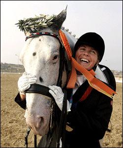 TOK GULL SIST: Ann Cathrin Lübbe vant gull i Aten. Denne gangen måtte hun nøye seg med sølv. Foto: Janne Møller Hansen