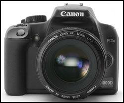 CANON EOS 1000D: Canons EOS 1000D plasserer seg spesifikiasjonsmessig mellom EOS 400D og EOS 450D. Foto: Canon