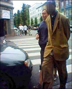 PÅGREPET: Drapsmannen var svært syk da han ble tatt noen timer etter drapet. Foto: KONTE LIG