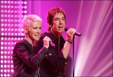 MEGASUKSESS: Roxette var en internasjonal suksess på 80- og 90-tallet. Her er Marie Fredriksson og Per Gessle på en konsert i Tyskland tidligere i år. Foto: Reuters