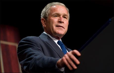 KALLER INN: George W. Bush vil snakke med lederne for G20-landene om finanskrisen. Foto: AFP