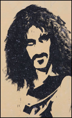 Frank Zappa på sokkel. Foto: Dag Fonbæk.