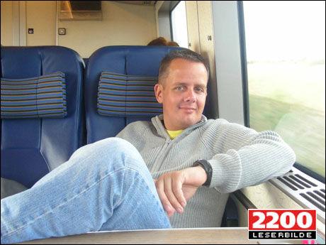 RAMMES AV KONKURSEN: Danske William Sørensen (36) skulle fly med Sterling til Gran Canaria i november. Men nå som flyselskapet er gått konkurs kan han se langt etter sydenferien. Foto: WILLIAM SØRENSEN