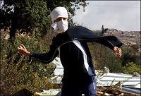 Jødiske tenåringer slåss mot israelsk politi